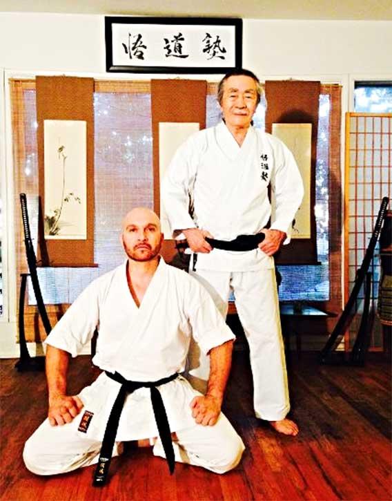 Dom with his mentor, Sensei Gomyo
