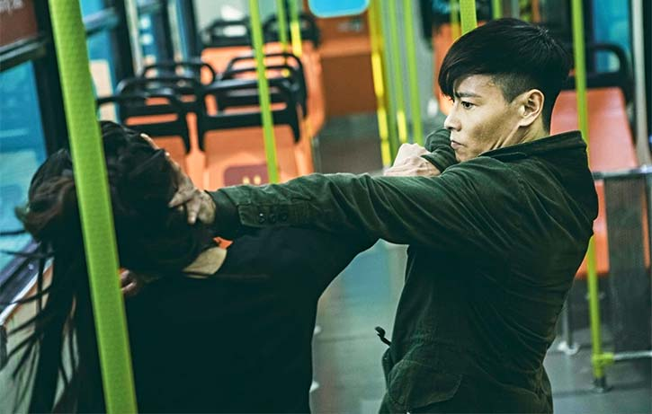 Max faces off with JuJu Chan in Invincible Dragon