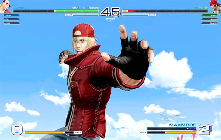 Terry Bogard is about to deliver a mean punch