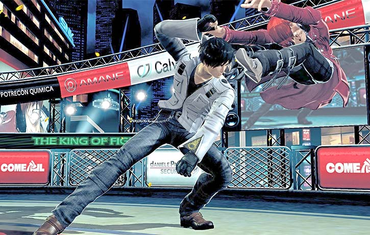 This is one intense fight between Kyo and Iori