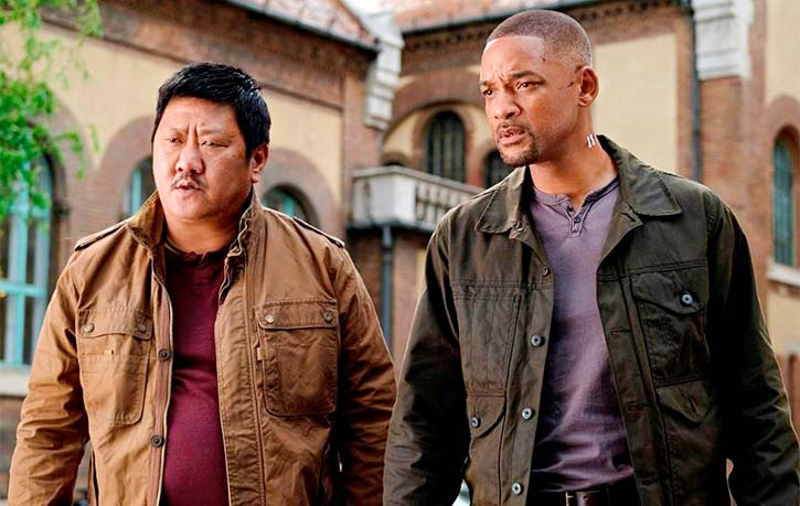 Will Smith and Benedict Wong in Gemini Man