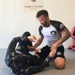 Chris takes his student through the intricacies of grappling