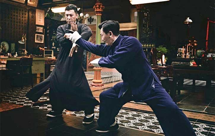 Ip Man deflects Master Wan's attack