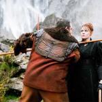 Bajie takes Minerva through some bo staff training