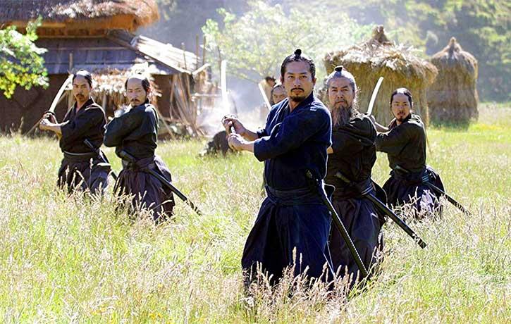 Hiroyuki Sanada as Ujio showing the poise of Iaido
