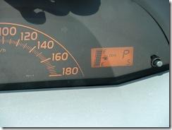レンタカーのヴィッツ・ODO 5km