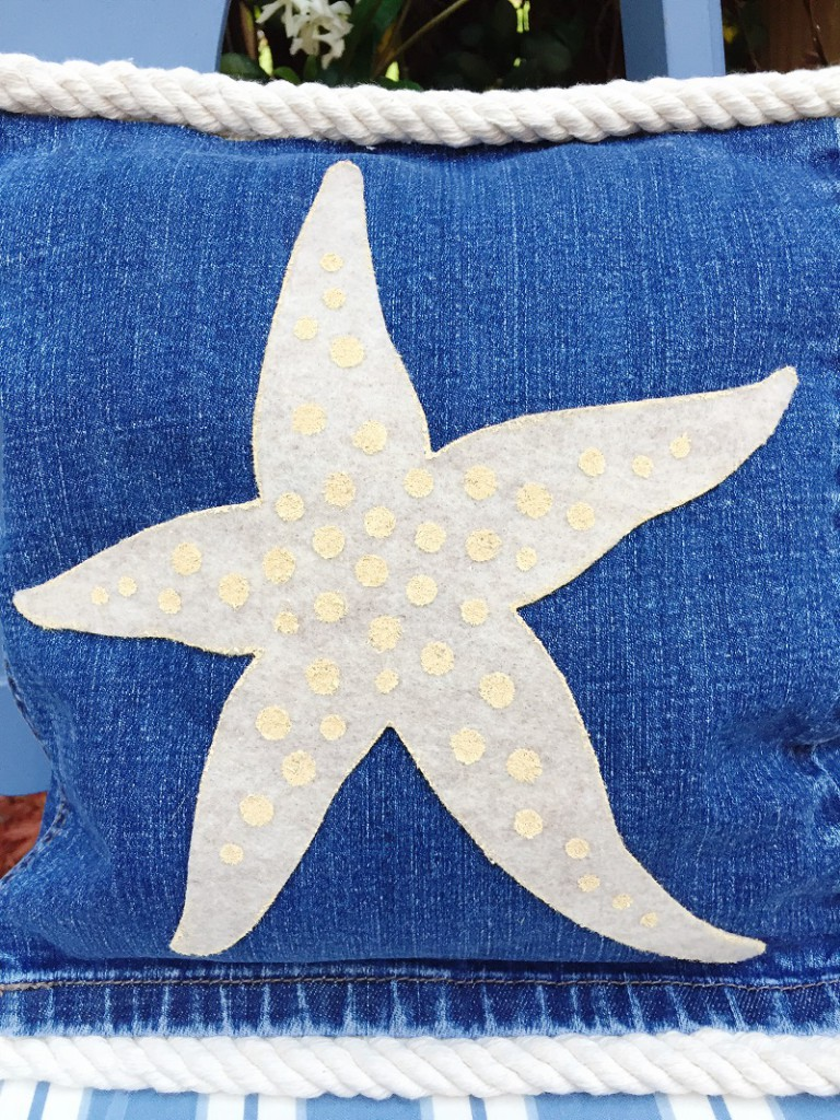 04-17 HOW TO MAKE STARFISH AND SAND DOLLAR DENIM PILLOWS BETH WATSON 9