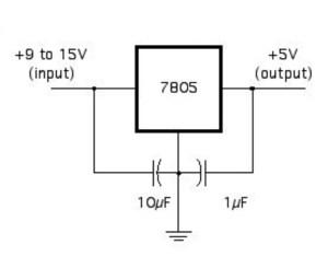 rangkaian stabilizer 5V 1A
