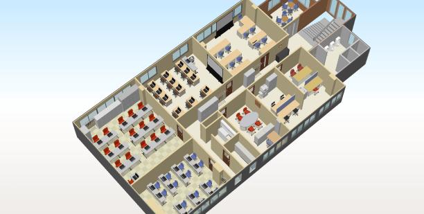 滋賀本校2階フロア図