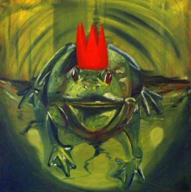 Froschkönig, 50 x 50cm, Öl auf Leinwand, 2007