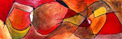 JETTI I, 40 x 120cm, Pigment mit Acrylbinder auf Leinwand, 2007
