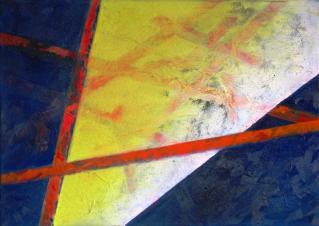von-Orange-zum-See-4-50x70cm,-Mischtechnik-auf-Leinwand,-2009