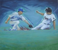 Baseball 6, Stealing a Base / Charlotte Schack Steffenhagen
