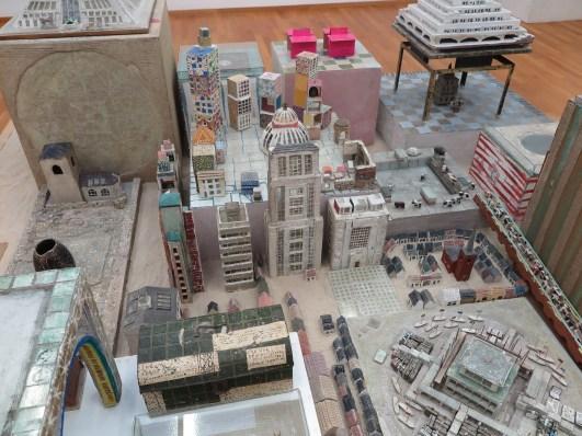 Bertus Jonker Maquette van een stad (detal)