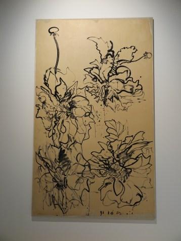 Dhalia's, waterverf op papier, op katoen geplakt, 1982