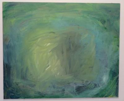 Jessica Skowroneck - Go where the raindrops fall, acryl op mdf, 2015
