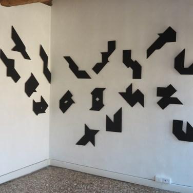 Ryszard Winiarski - Black square of flying geometry - 1983