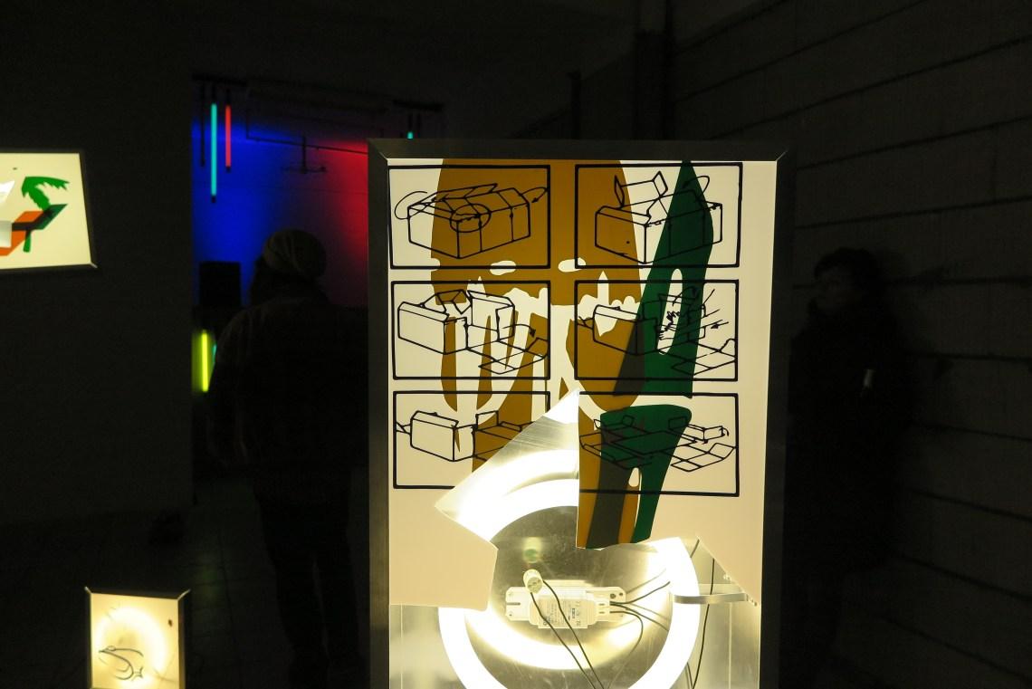 Lichtbak (detail) van Lennart de Neef