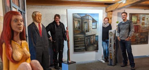 Ausstellung in der Flensburger Bergmühle.