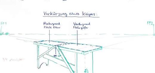 Freihandzeichnen für Meisteranwärter des Tischlerhandwerks mit Johannes Caspersen