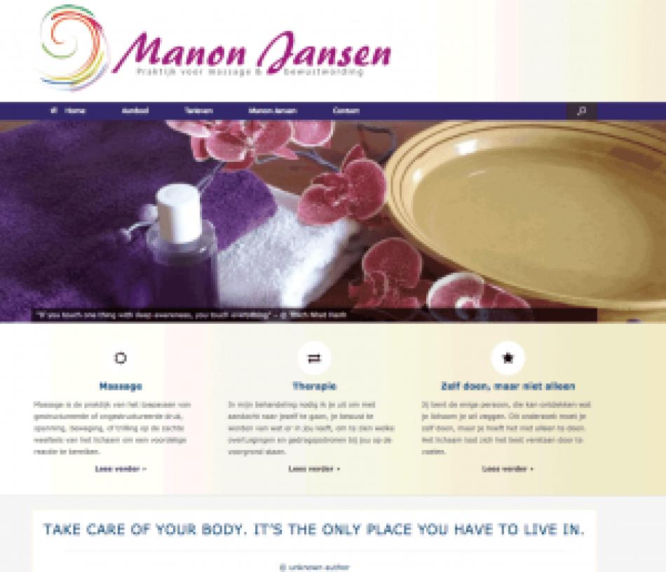 Homepage manonjansen.nl