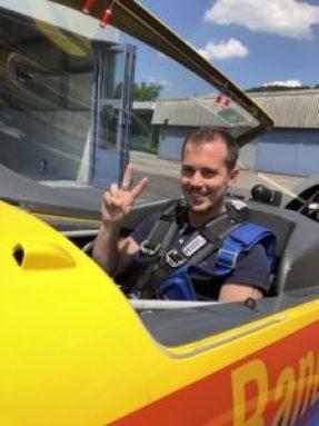Kunstflug Passagier Simon