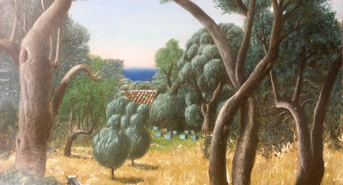 Klaus von Woyski (1931-2017), Samos, Oliven und Bienenstöcke, 1979, Griechenland