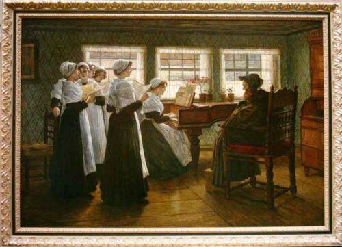 Morgenandacht in einem holländischen Waisenhaus, um 1884