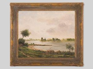 Wolfgang Grau | Weite Flusslandschaft | um 1960