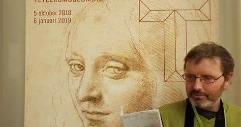 Museumbezoeker Teylers Leonardo da Vinci
