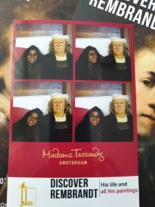 met Rembrandt op de foto