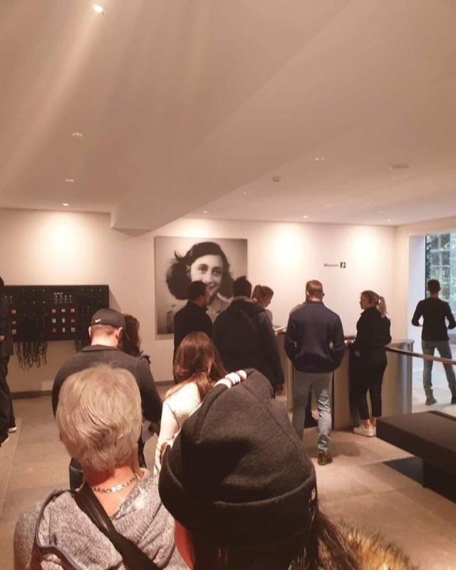 Drukte in het Anne Frank Huis