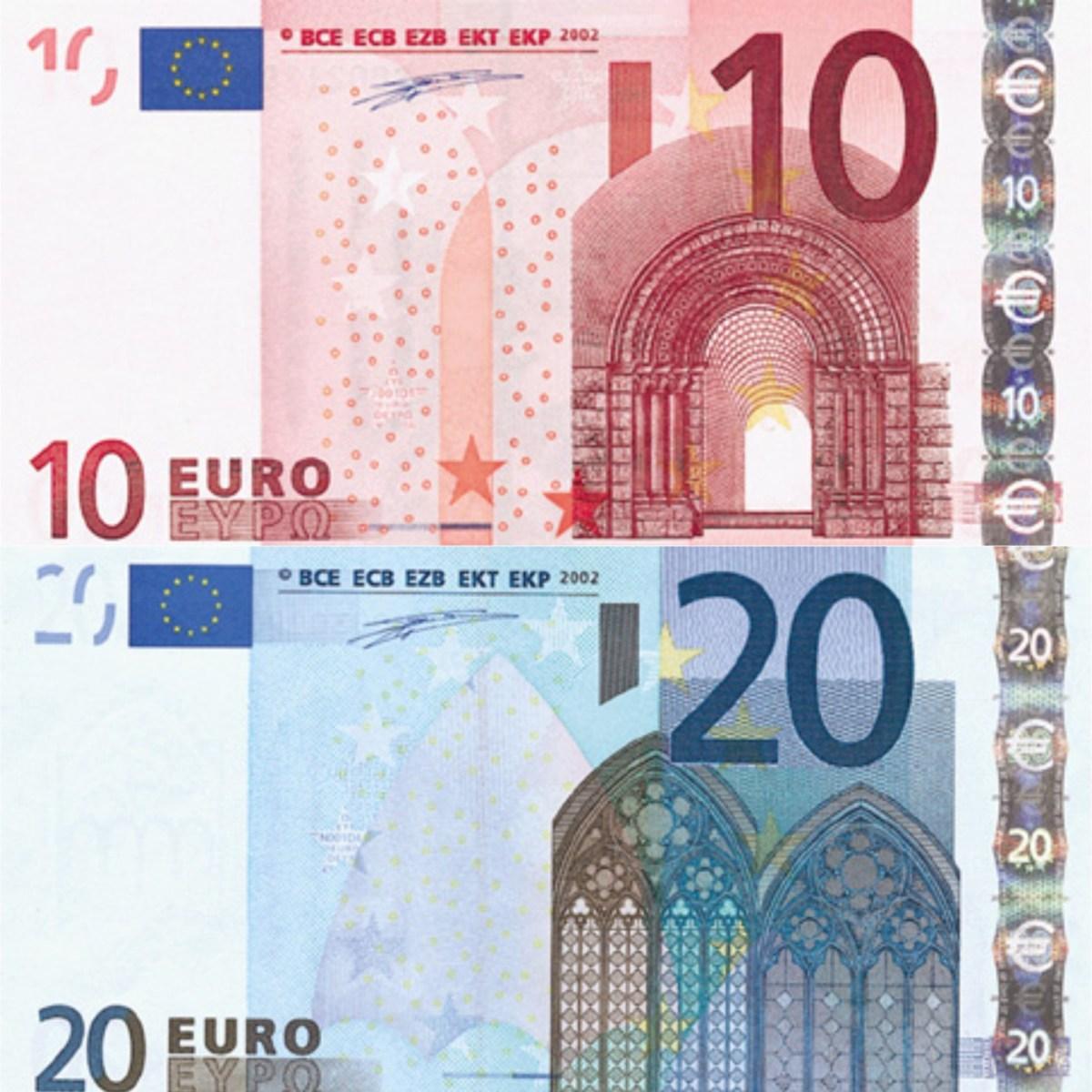 10 eurobiljet