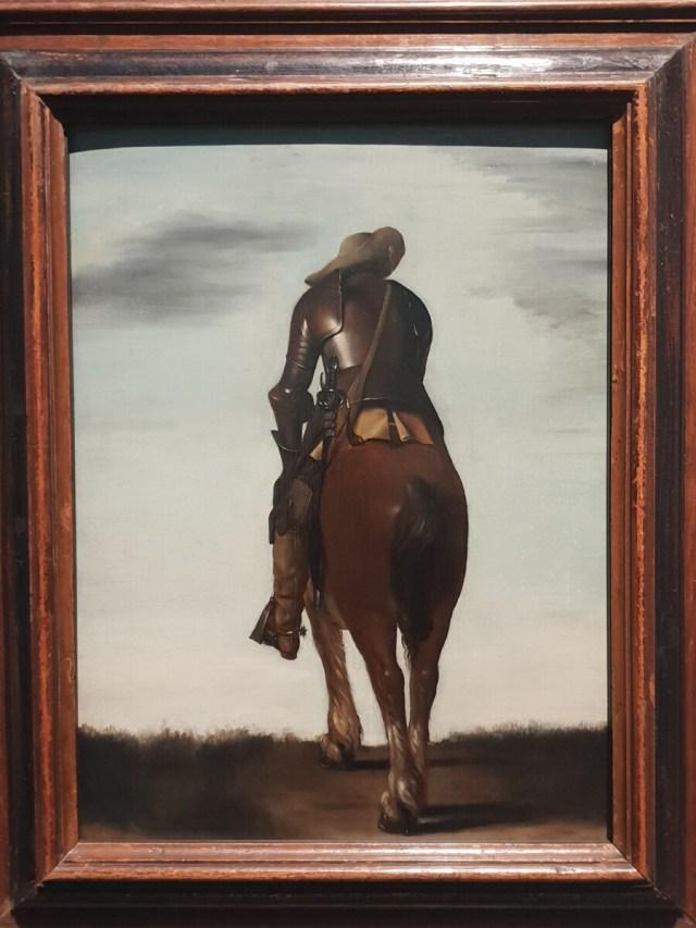 Gerard ter Borch II 'Soldaat te paard, op de rug gezien