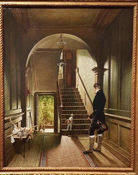 Het trappenhuis van de Londense woning van de schilder