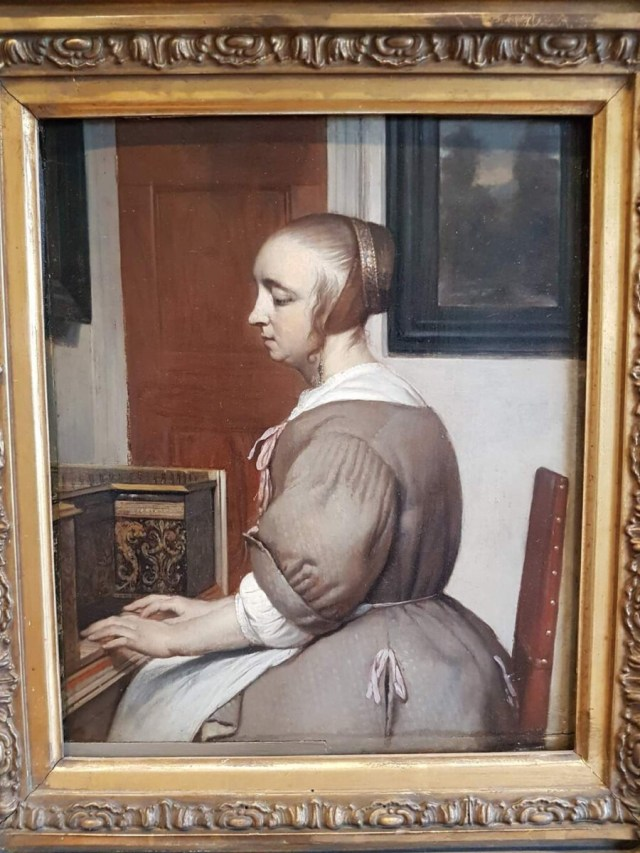 Vrouw aan het Virginaal van Gabriel Metsu