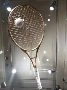 gouden tennisracket