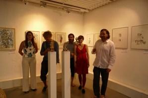 Künstler und Galerieteam