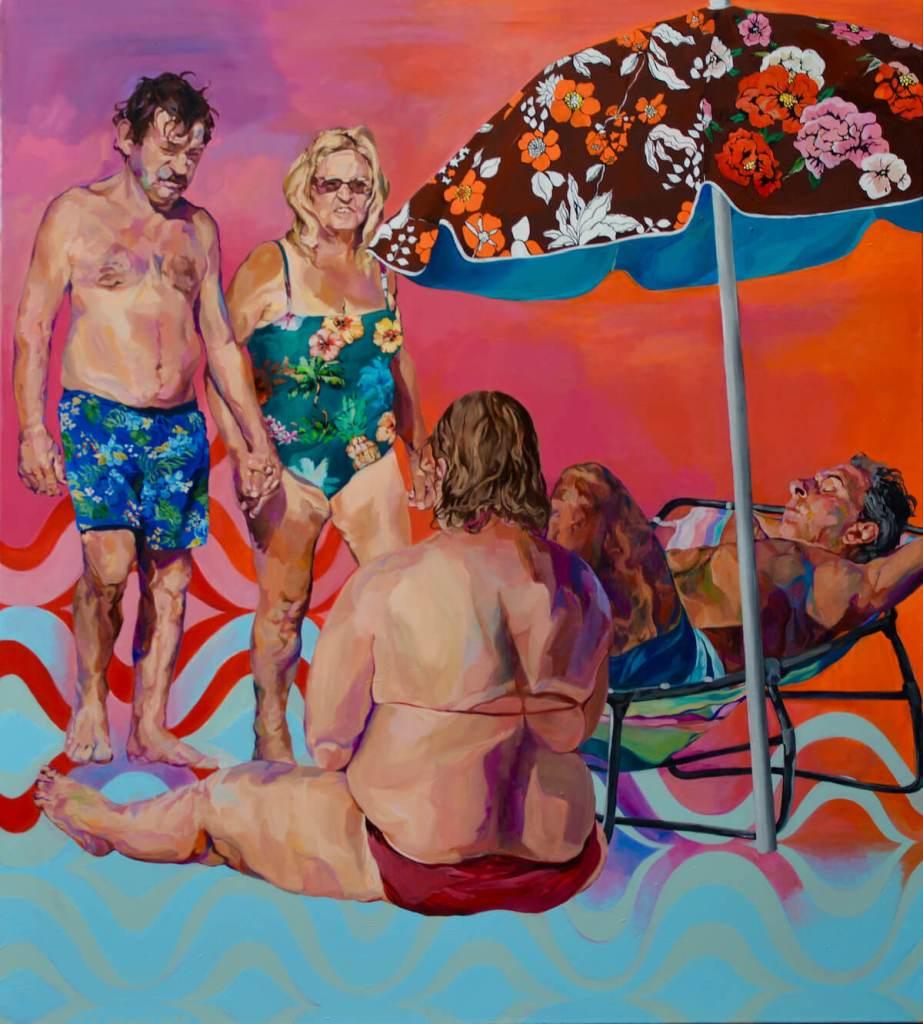 Janina Brügel: Ode to the ocean, 2019, 145 x 130 cm