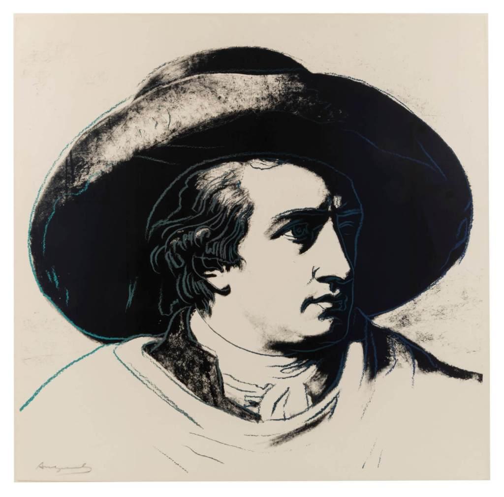 Andy Warhol Goethe 1982 Siebdruck auf Lenox Museums Karton 96,5 x 96,5 cm signiert rückseitig gestempelt