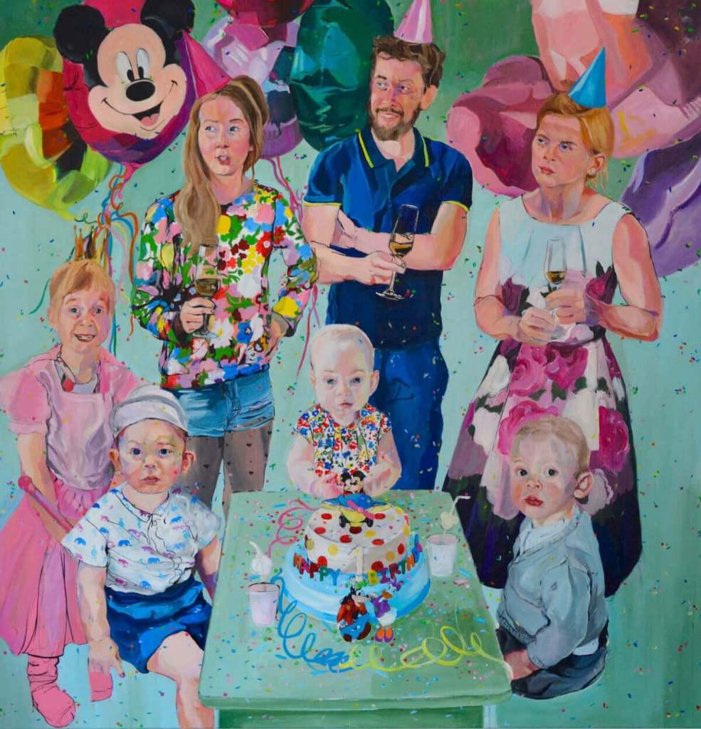 Janina C. Brügel: Happy Birthday II 2019 – Acrylic on canvas – 155 x 145 cm