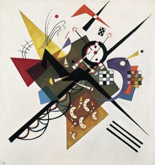 Op Wit II Wassily Kandinsky 1923