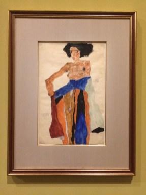 Egon Schiele. Moa. Gouache, krijt, aquarel. 1911
