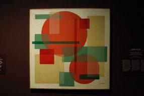 Compositie met roze cirkels, 1926. Wobbe Alkema.