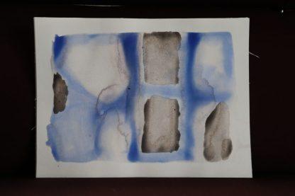 Cobaltblauw aquarel en rode bordeaux (oude wijn). Antoon Loomans