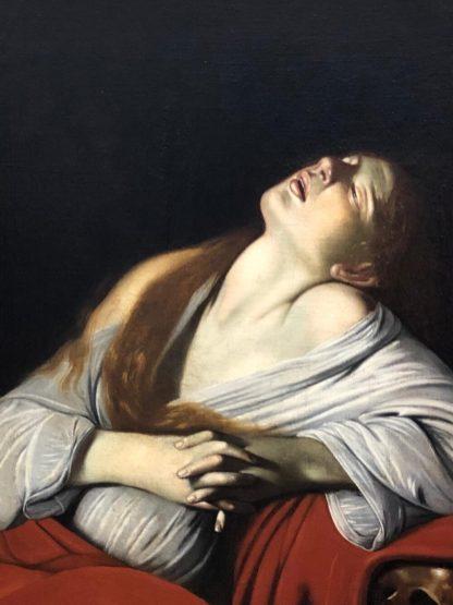Is deze van Caravaggio? Maria Magdalena in extase. Heerlijk volgens Marleen, baroktentoonstelling Rijksmuseum.