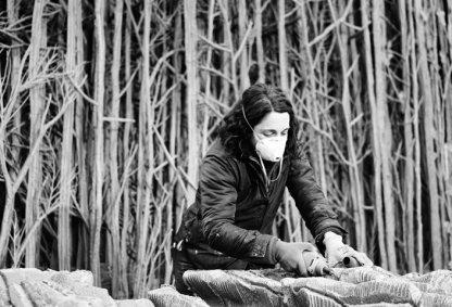 Eva Jospin in haar atelier in Parijs. Foto: Laure Vascon