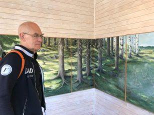 Antoon voor werk van Vivi Pettersson, in Galleri Olika, Dals Långed, Zweden