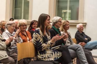 Milena Mercer, Anne Reimann und Anke Steinert-Neuwirth, Kulturreferentin (v.l.n.r.), Foto: Kilian Reil