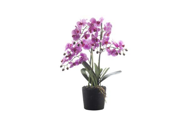HTT Decorations - Kunstplant Orchidee / Phalaenopsis XL 5-tak roze H68cm - kunstplantshop.nl